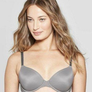 UNLINED DEMI CUT BRA GRAY 34DDD AUDEN